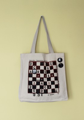 Marcel Dzama: Chess Board Limited Edition Tote Bag and Artist Buttons